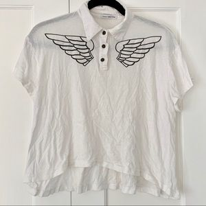 James Perse Wing Collared T-shirt